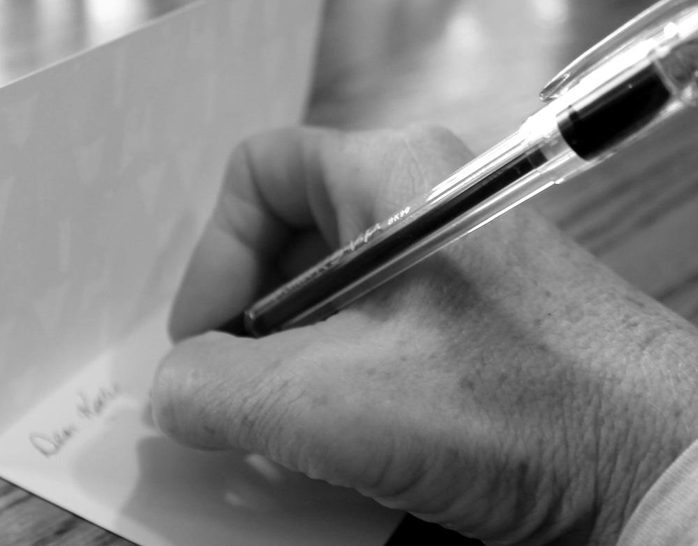 Blog--hand writing