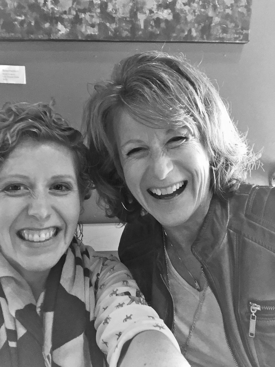 Katie and Me--my visit in Feb. 2016 B&W