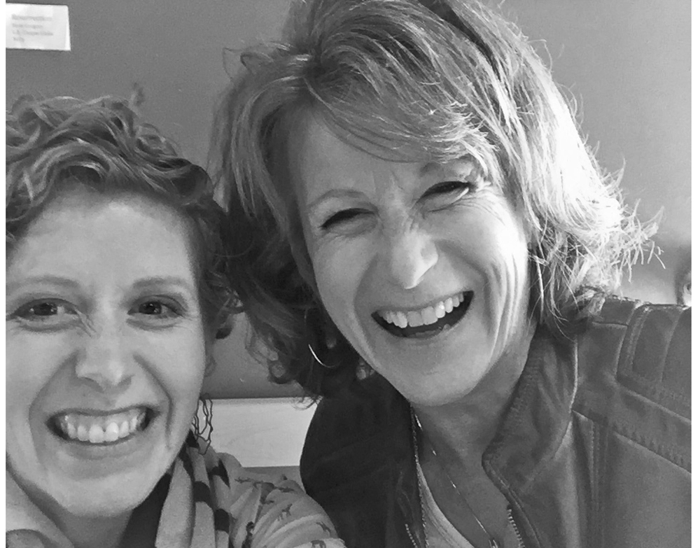 Katie and Me--my visit in Feb. 2016 B&W2