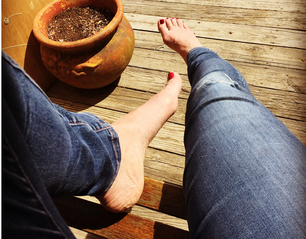 Hanging out on the porch swing